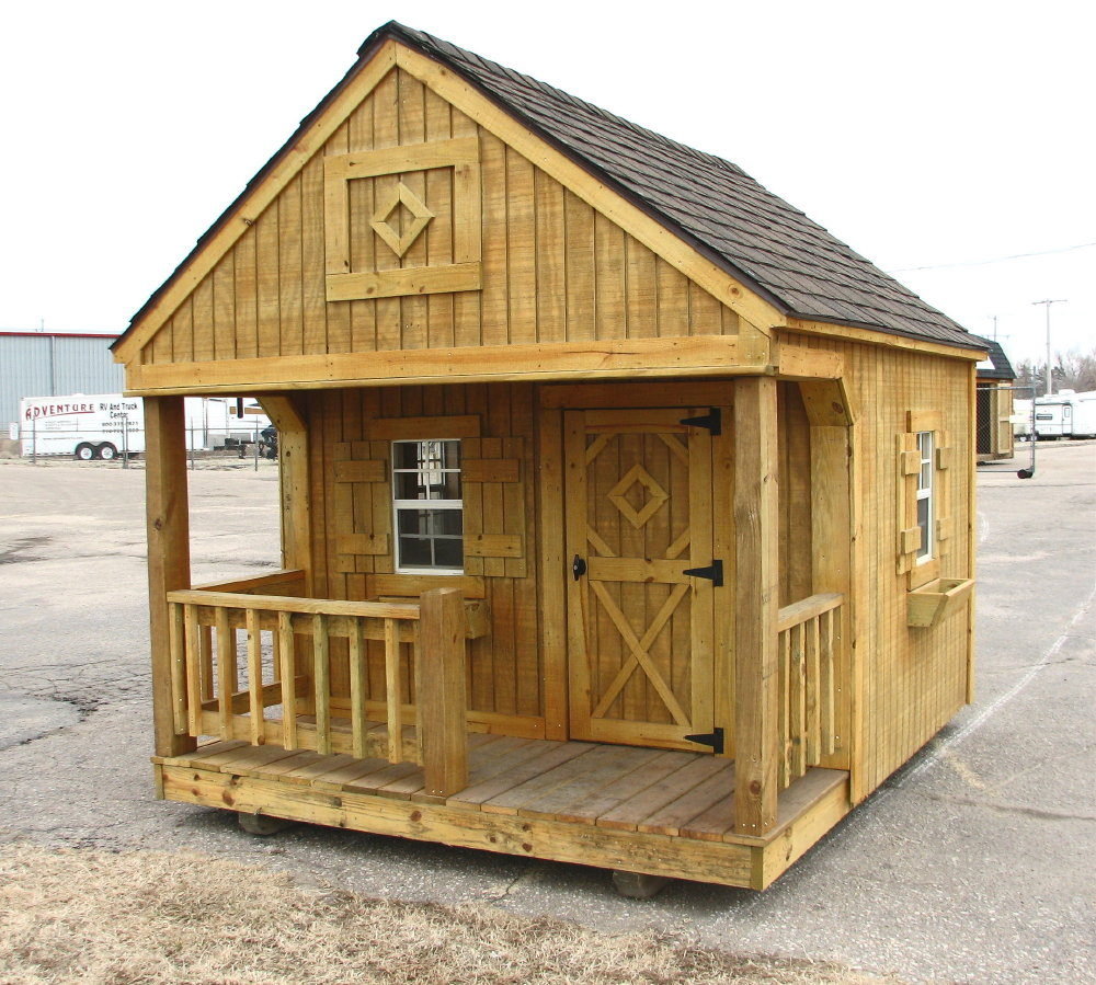 Portable playhouse by better built storage buildings for Shed house plans