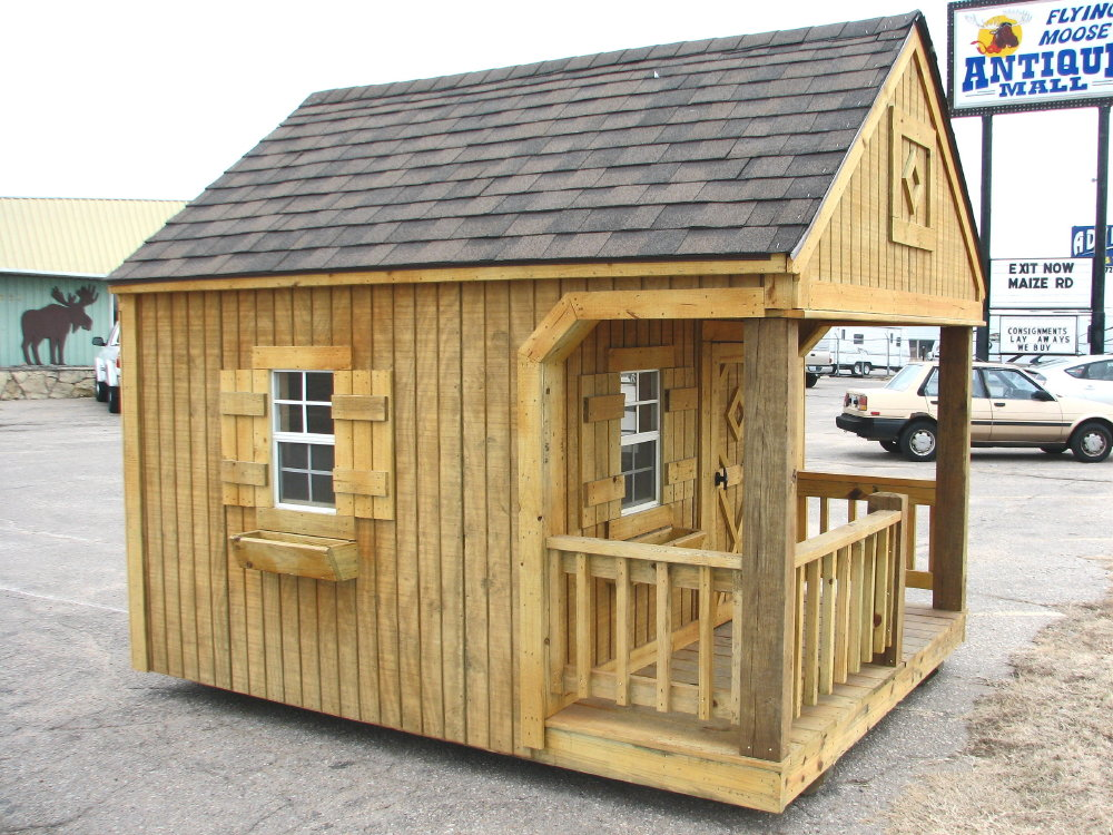 Portable playhouse by better built storage buildings for 10x10 access door