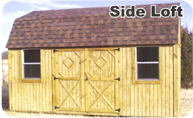 Portable 12x24 rustic storage barn w loft shed garage ebay for Storage building with loft