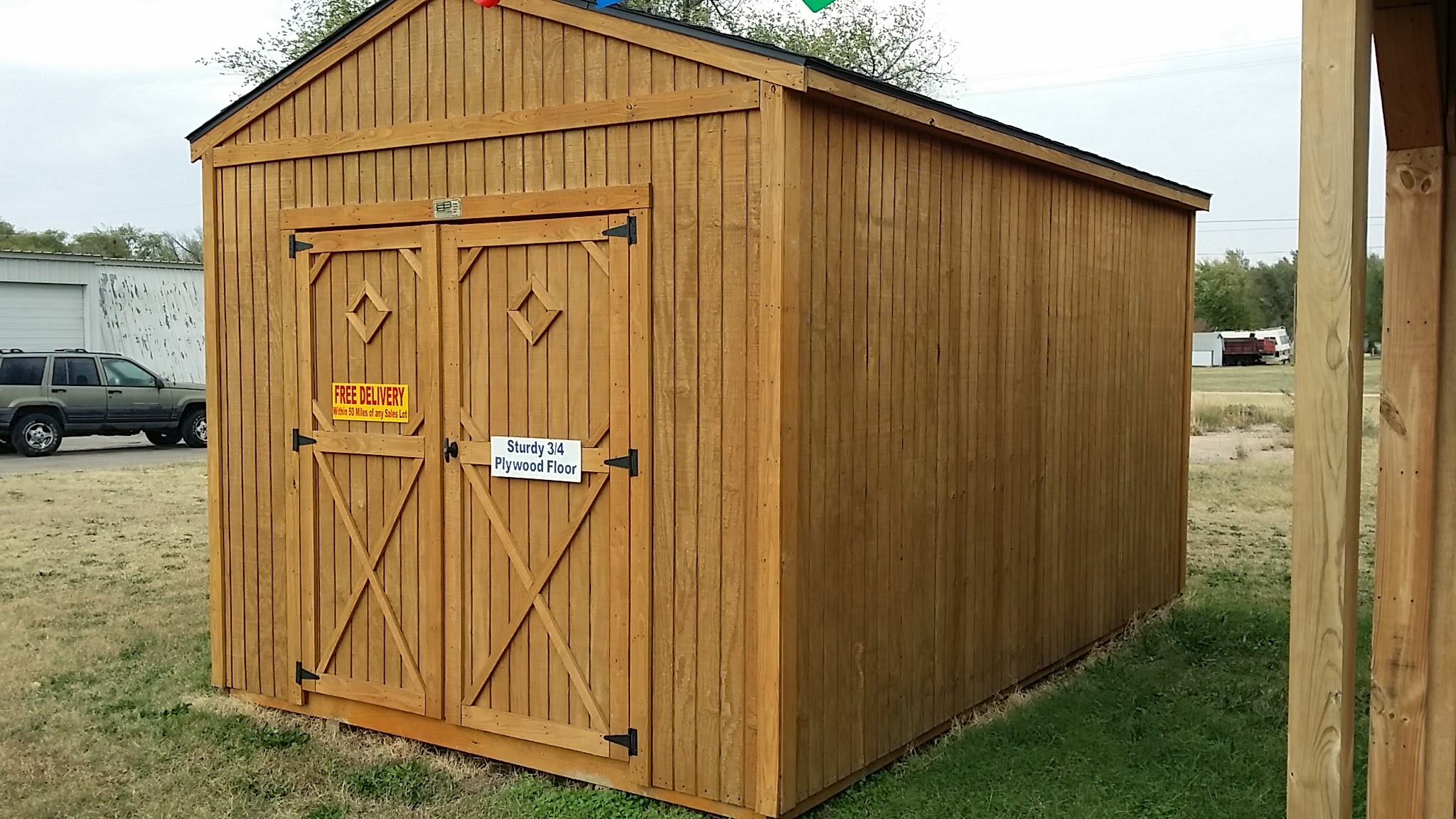 Utility shed by better built portable storage buildings for Side of the house storage shed